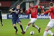 (L-R) Michael Liendl of FC Twente, Wout Weghorst of AZ Alkmaar
