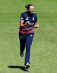 Laura Marsh of England Women celebrates taking the wicket of Hasini Perera of Sri Lanka Women - Mandatory by-line: Robbie Stephenson/JMP - 02/07/2017 - CRICKET - County Ground - Taunton, United Kingdom - England Women v Sri Lanka Women - ICC Women's World Cup Group Stage
