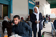 Mehar, a young Salafist of 22 years in the poor Tunis district Ettadhamen.<br />