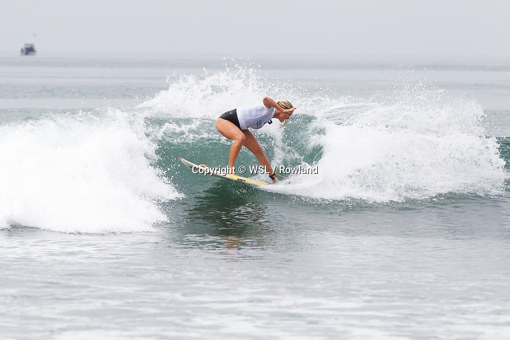 Bethany Hamilton placed second in Heat 3 of Round One of the Swatch Women's Pro.