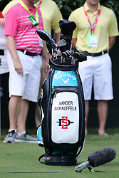 September 20, 2018 - Atlanta, GA, U.S. - ATLANTA, GA - SEPTEMBER 20: Xander Schauffele's Callaway golf bag during the first round of the PGA Tour Championship on September 20, 2018, at East Lake Golf Club in Atlanta, GA. (Photo by Michael Wade/Icon Sportswire) (Credit Image: © Michael Wade/Icon SMI via ZUMA Press)