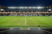 Stadium MK under floodlights during the Sky Bet Championship match between Milton Keynes Dons and Huddersfield Town at stadium:mk, Milton Keynes, England on 23 February 2016. Photo by Dennis Goodwin.