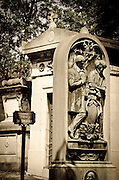 Graves and mausoleum at Père Lachaise Cemetery, Paris, France