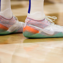 Oct 23, 2018; New Orleans, LA, USA; A detail of shoes worn by Los Angeles Clippers forward Tobias Harris during the second quarter against the New Orleans Pelicans at the Smoothie King Center. Mandatory Credit: Derick E. Hingle-USA TODAY Sports