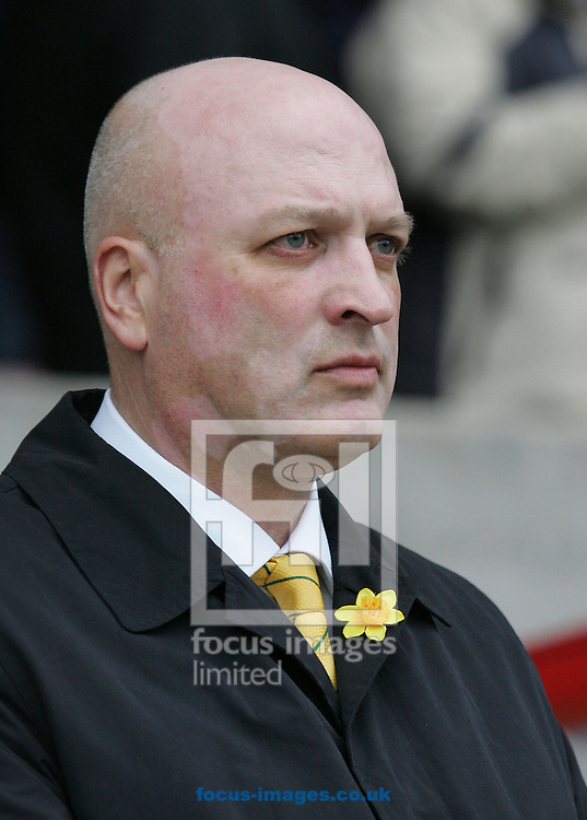 Blackpool - Saturday March 7th, 2009: Bryan Gunn, manager of Norwich City during the match against Blackpool for the Coca Cola Championship at Bloomfield Road, Blackpool. (Pic by Michael Sedgwick/Focus Images)