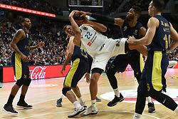 March 2, 2018 - Madrid, Madrid, Spain - Walter Tavares (center),  #22 of Real Madrid in action during the 2017/2018 Turkish Airlines EuroLeague Regular Season Round 24 game between Real Madrid and Fenerbahce Dogus Istanbul at WiZink center in Madrid. (Credit Image: © Jorge Sanz/Pacific Press via ZUMA Wire)