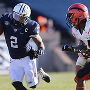Deon Randall, Yale, in action during the Yale Vs Princeton, Ivy League College Football match at Yale Bowl, New Haven, Connecticut, USA. 15th November 2014. Photo Tim Clayton