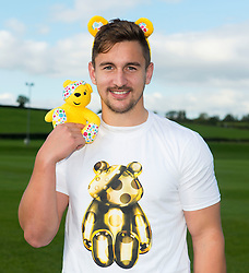 George Watkins of Bristol Rugby shows his support to Pudsey and Children in Need    - Photo mandatory by-line: Joe Meredith/JMP - Mobile: 07966 386802 - 14/10/2015 - SPORT - Rugby - Bristol - Bristol Rugby Training Ground - Bristol Rugby Children In Need