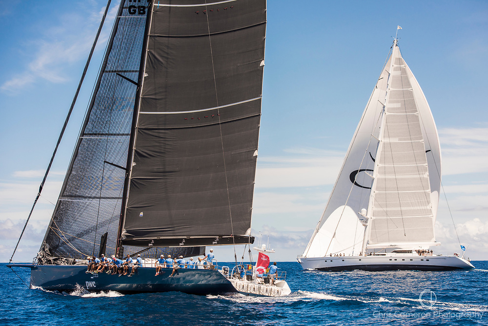 Bermuda, 13th June 2017. America's Cup Superyacht regatta. Race one. Leopard and Hyperion.