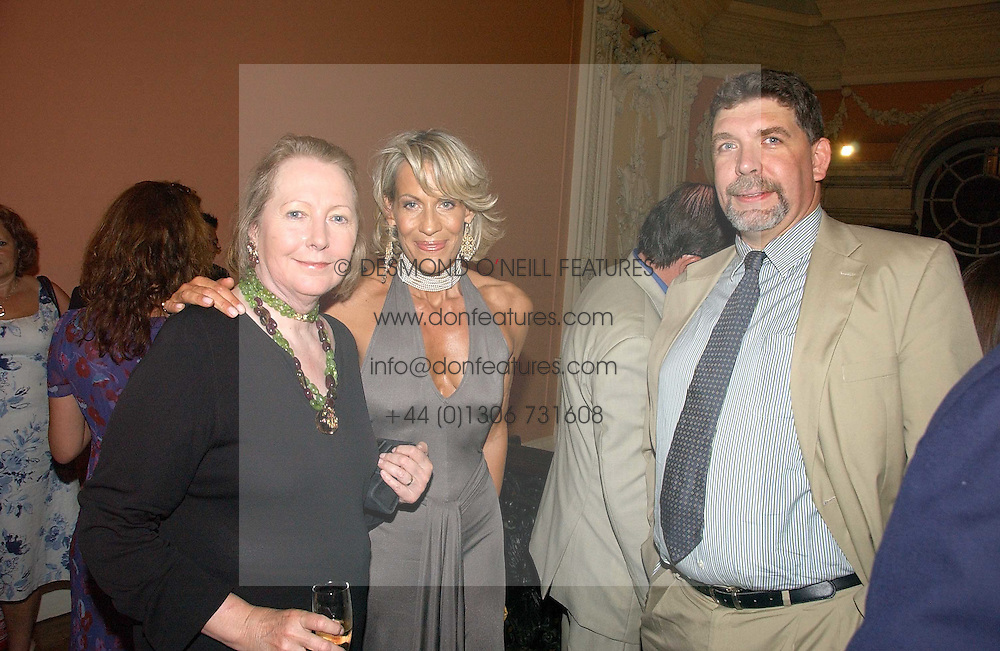 Left to right, SARAH BRADFORD, LEONIE FRIEDA and COUNT NICCOLO CAPPONI DELLA ROVINATE at a party to celebrate the publication of 'A History of The English Speaking Peoples Since 1900' hosted by Andrew Roberts and Susan Gilchrist at the English-Speaking Union, 37 Charles Street, London W1 on 11th September 2006.<br /><br />NON EXCLUSIVE - WORLD RIGHTS