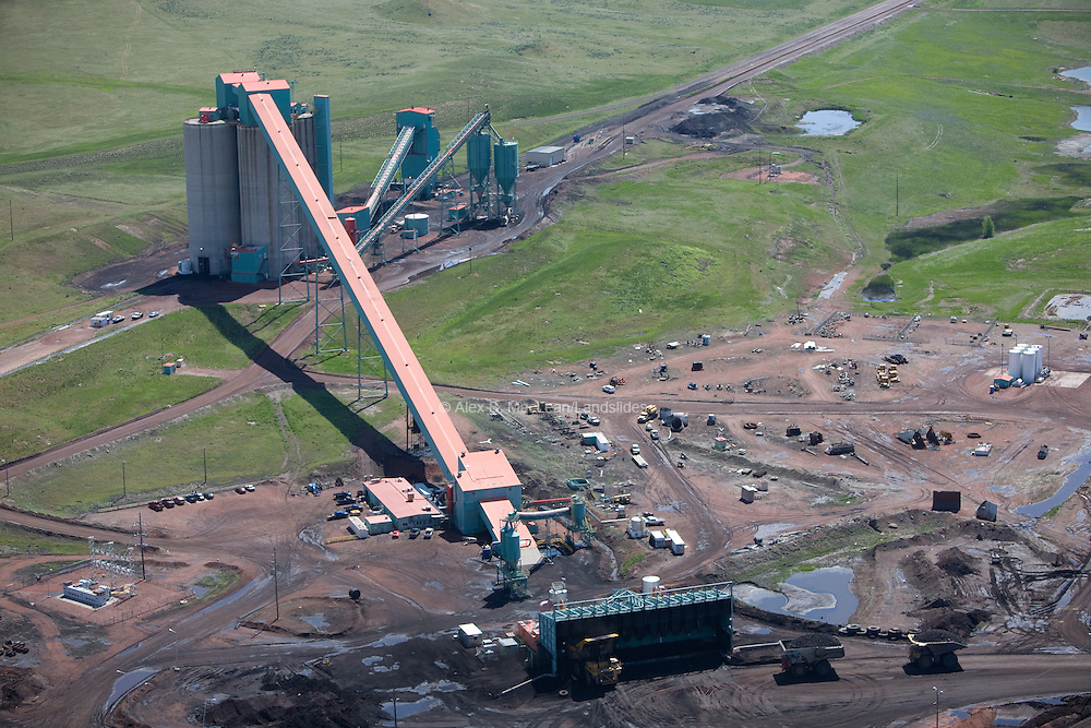 Coal mining in the Powder River Basin.