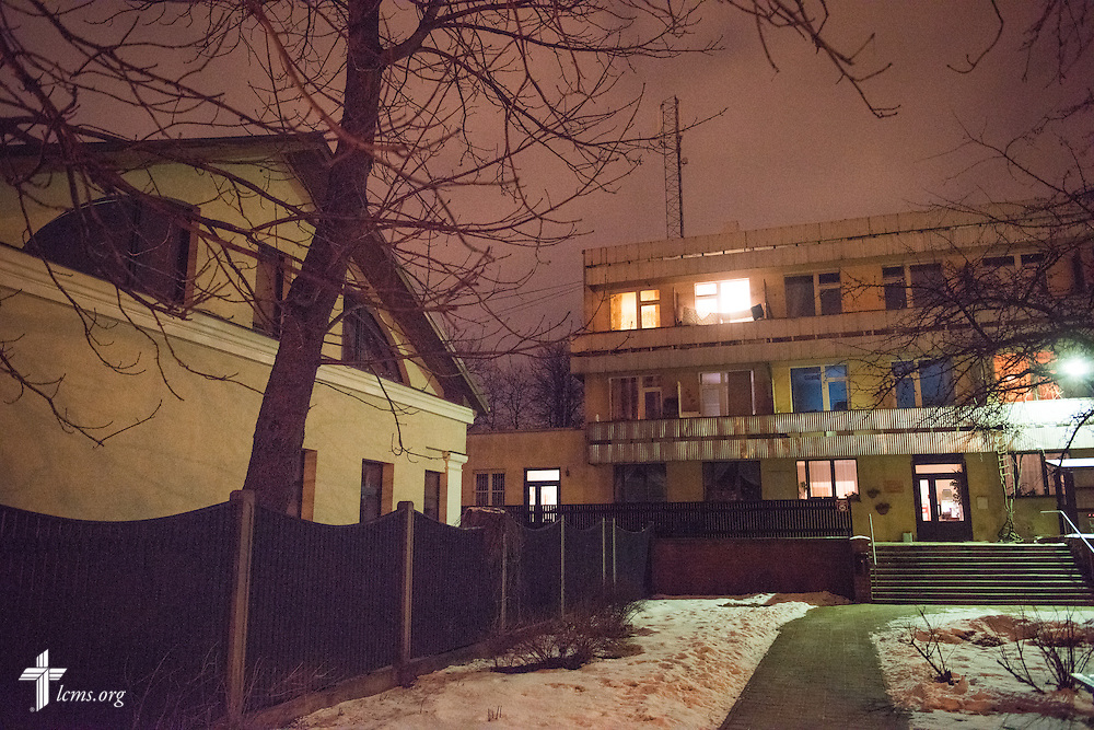 Exterior photograph Wednesday, Feb. 4, 2015, at the Generations Diaconia Center daycare in Riga, Latvia. LCMS Communications/Erik M. Lunsford