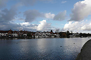 Henley on Thames. United Kingdom.  General View across the River Thames at the Oxfordshire. Henley Reach.   <br /> <br /> Saturday  28/01/2017<br /> <br /> © Peter SPURRIER<br /> <br /> LEICA CAMERA AG  LEICA Q (Typ 116)  f4  1/4000sec  28mm  3.8MB
