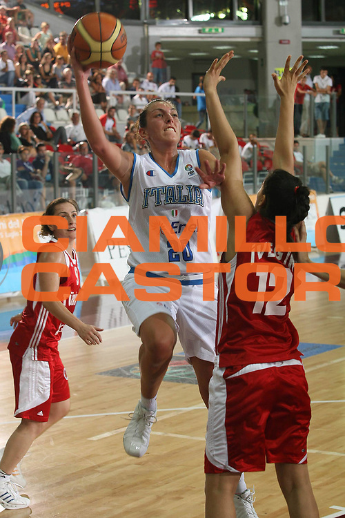DESCRIZIONE : Chieti Qualificazione Eurobasket Women 2009 Italia Turchia <br /> GIOCATORE : Emanuela Ramon <br /> SQUADRA : Nazionale Italia Donne <br /> EVENTO : Raduno Collegiale Nazionale Femminile<br /> GARA : Italia Turchia Italy Turkey <br /> DATA : 27/08/2008 <br /> CATEGORIA : tiro<br /> SPORT : Pallacanestro <br /> AUTORE : Agenzia Ciamillo-Castoria/M.Marchi <br /> Galleria : Fip Nazionali 2008 <br /> Fotonotizia : Chieti Qualificazione Eurobasket Women 2009 Italia Turchia <br /> Predefinita :