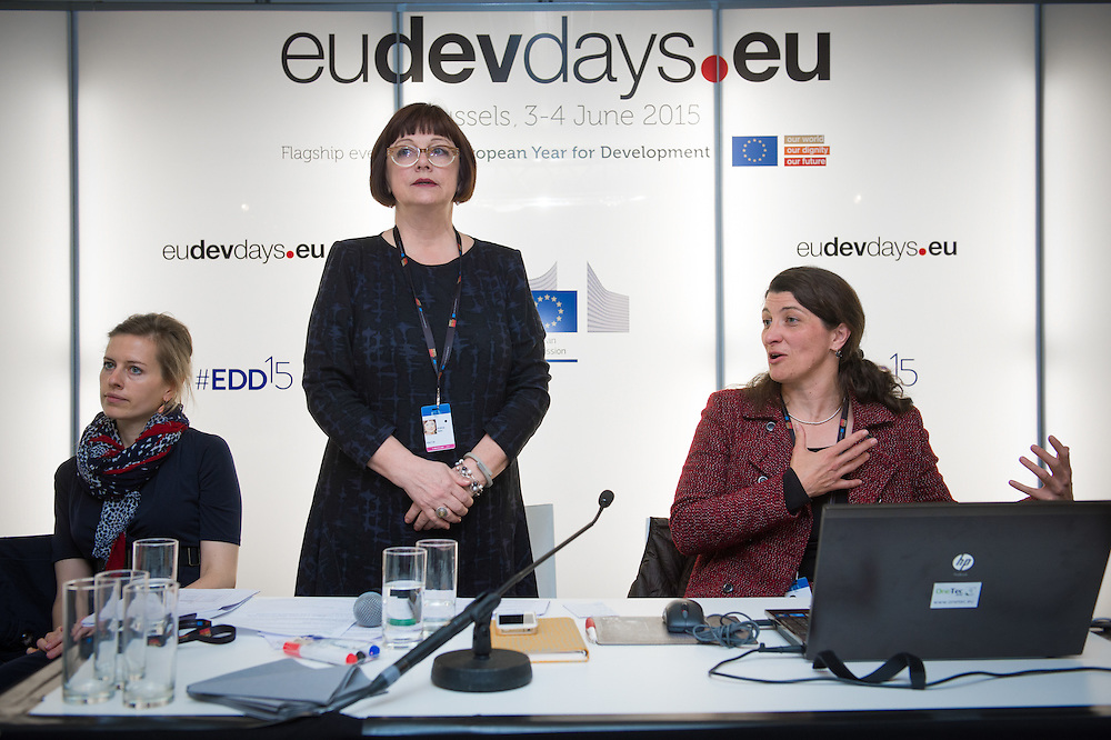 04 June 2015 - Belgium - Brussels - European Development Days - EDD - Jobs - Vocational employment in Africa - Cooperation with the private sector - Evelyn Dietsche , Sustainability Manager - Sonja Palm , Programm Director Employment for Development - Skills for Oil and Gas © European Union