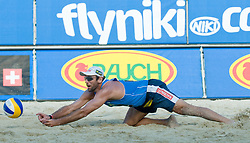 Marcion Araujo of Brazil at A1 Beach Volleyball Grand Slam tournament of Swatch FIVB World Tour 2010, on July 31, 2010 in Klagenfurt, Austria. (Photo by Matic Klansek Velej / Sportida)