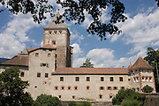 Schloss (Castle) Trostburg above the south Tyrol village of Widbruck, Italy.