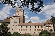 Schloss (Castle) Trostburg above the south Tyrol village of Widbruck, Italy.
