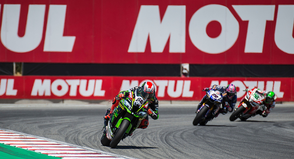 Jun 23  2018  Monterey, CA, U.S.A   # 66 Tom Sykes lead coming out of turn 11                                                                                                                                                                                                                                                                                                                                                                                 of during the Motul FIM World Superbike Race # 1 at Weathertech Raceway Laguna Seca  Monterey, CA  Thurman James / CSM