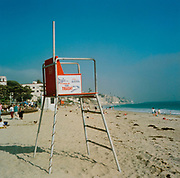 Lifeguard chair on the beach, USA