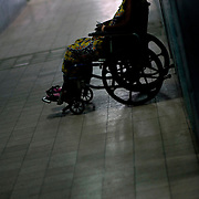 Kinshasa November 30, 2005 - Kinshasa General Hospital, patient wait to have medical treatment The Kinshasa General Hospital, is far from being a bush dispensary. With its 2,000 beds and its 2,250 employees (doctors, nurses and administrative personnel), it is one of Africa's most impressive medical facilities. It offers a full range of services and is the undisputed referral centre for the Congolese capital. Its patients the sick, accident victims and war casualties, both civilian and military  have one thing in common: their suffering, which the staff do their best to alleviate with the means available. But those means are often woefully inadequate