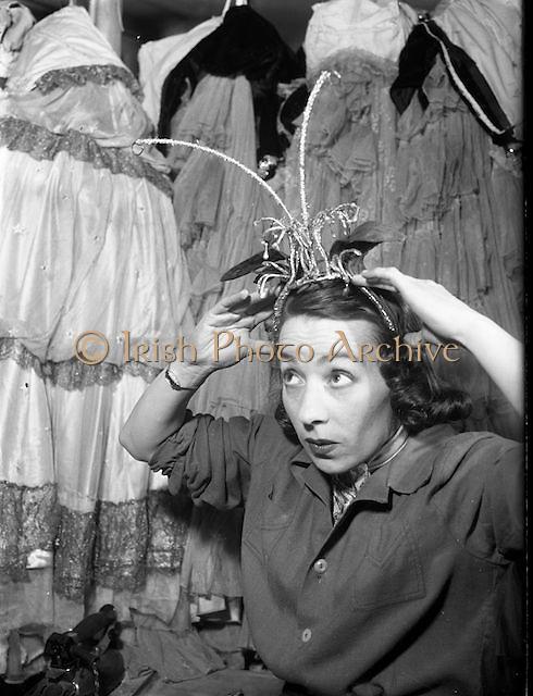 Maureen Potter, with head gear   Maureen Potter & Gaiety Theatre Dublin, Ireland.