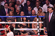 LAS VEGAS, NV - AUGUST 26:  (R-L) Current UFC President Dana White and former UFC CEO Lorenzo Fertitta attend the super welterweight boxing match between Floyd Mayweather Jr. and Conor McGregor on August 26, 2017 at T-Mobile Arena in Las Vegas, Nevada. (Photo by Jeff Bottari/Zuffa LLC/Zuffa LLC via Getty Images)