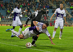 20.10.2011, UPC Arena, Graz, AUT, UEFA Europa League, Sturm Graz (AUT) vs RSC Anderlecht (BEL), im Bild Mario Haas (SK Sturm Graz, #7, Offense) gegen Marcin Wasilewski (RSC Anderlecht, Defense, #27) // during UEFA Europa League football game between Sturm Graz (AUT) and RSC Anderlecht (BEL) at UPC Arena in Graz, Austria on 20/10/2011. EXPA Pictures © 2011, PhotoCredit: EXPA/ E. Scheriau