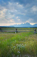 Storm clouds over the Teton Range,m Grand Teton National Park, Wyoming