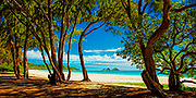 A beautiful day on Bellows Beach in Waimanalo, Hawaii