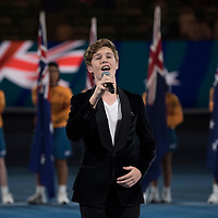 Pre match entertainment during the 2018 Australian Open on day 12 in Melbourne, Australia on Friday night January 26, 2018.<br /> (Ben Solomon/Tennis Australia)