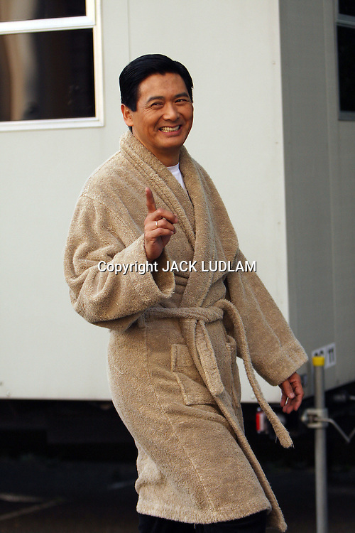 SHANGHAI FILM SET WITH ASIAN LEGEND CHOW YUN-FAT, AND JOHN CUSACK FILMING IN PALL MALL LONDON 8 JULY 2008