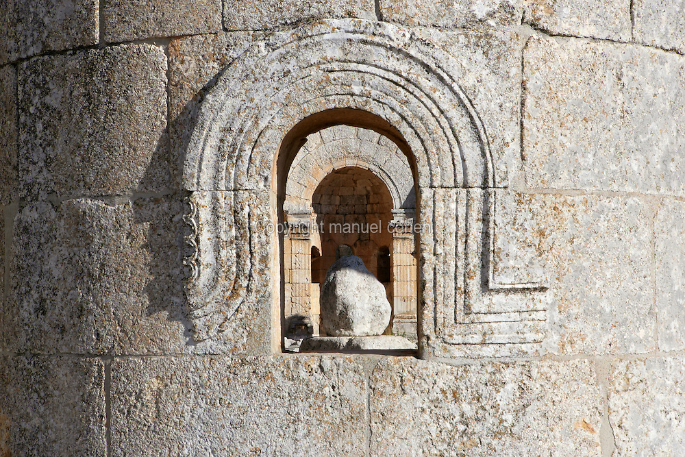 St Simeon Stylite's rock seen through the basilica's arched windows, 473, Deir Samaan, Syria Picture by Manuel Cohen