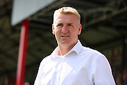 Brentford Manager Dean Smith during the EFL Sky Bet Championship match between Brentford and Ipswich Town at Griffin Park, London, England on 13 August 2016. Photo by Matthew Redman.