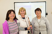 14/10/2014 Retired Galway teachers Padraigin Moylan, Muriel McDanley and Geraldine Kelly at the Galway Education centre learning coding   during the EU CODE WEEK. Photo:Andrew Downes