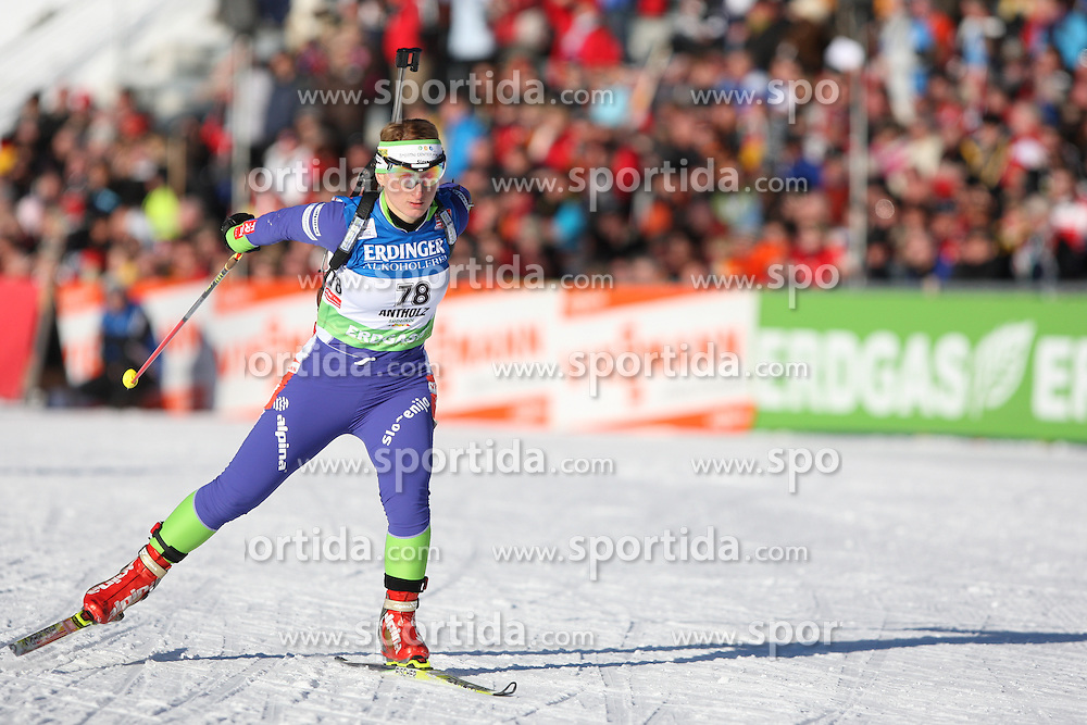 COUPE DU MONDE DE BIATHLON 2010 ANTERSELVA..© Pierre Teyssot / Sportida.com..BRANKOVIC LIKOZAR Tadeja (SLO) from Slovenia during the individual race 15 km ladies of the stage of the e.on Ruhrgas IBU Biathlon World Cup on 20/01/2010 , 2010 in Anterselva - Antholz,  Italy.