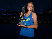 Karolina Pliskova of the Czech Republic during a downtown trophy photo shoot after winning the 2020 Brisbane International WTA Premier tennis tournament - Photo Rob Prange / Spain ProSportsImages / DPPI / ProSportsImages / DPPI