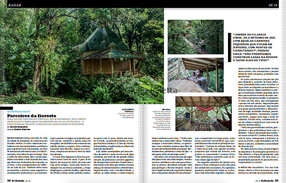 Published in Go Outside magazine, Brazil, August 2016