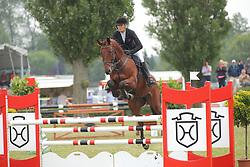 Kirchner, Kristin, Aretino<br /> Elmshorn - Holsteiner Pferdetage<br /> Springen Klasse M Finale 5j.<br /> © www.sportfotos-lafrentz.de/ Stefan Lafrentz