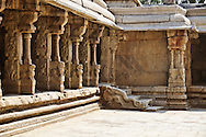 The  Veerabhadra temple in Lepakshi, India is a Hindu temple famous for intricate sculptures and carvings and immaculately preserved paintings from the 16th century.