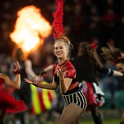 Performers during half time break during the 2018 Super Rugby final between the Crusaders and Lions at AMI Stadium in Christchurch, New Zealand on Sunday, 29 July 2018. Photo: Joe Johnson / lintottphoto.co.nz