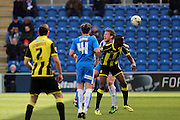 Burton No 10 Lucas Akins  in the Sky Bet League 1 match between Colchester United and Burton Albion at the Weston Homes Community Stadium, Colchester, England on 23 April 2016. Photo by Nigel Cole.