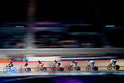 February 10, 2019 - Melbourne, VIC, U.S. - MELBOURNE, VIC - FEBRUARY 08: Shane Perkins of Russia gestures towards the crowd prior to the Keirin Final race at The Six Day Cycling Series on February 08, 2019 at Melbourne Arena, VIC. (Photo by Speed Media/Icon Sportswire) (Credit Image: © Speed Media/Icon SMI via ZUMA Press)