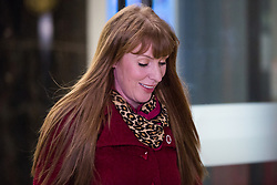 London, UK. 24 January, 2020. Angela Rayner, a candidate for the currently vacant position as Deputy Leader of the Labour Party, leaves TUC Congress House where the trade union Unite had been deciding who to back as Labour Leader and Deputy Leader. It was announced soon after by General Secretary Len McCluskey that the trade union would back Rebecca Long-Bailey to succeed Jeremy Corbyn as Labour Leader and Richard Burgon as Deputy Leader.