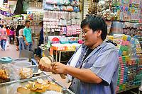 Fruit merchant, Chinatown, Bangkok, Thailand