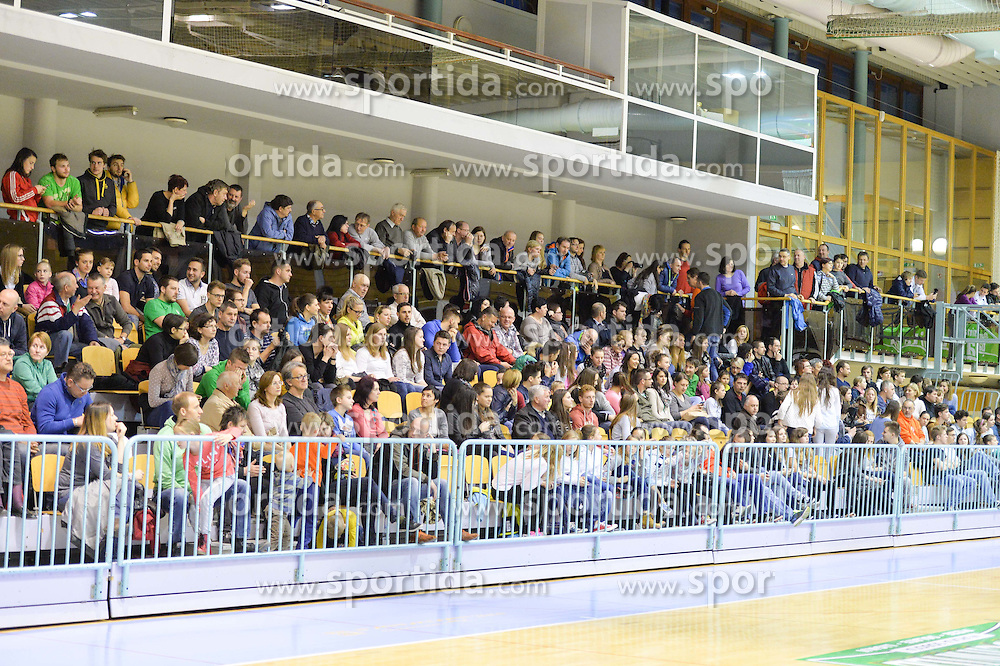 Fans during volleyball game between OK Panvita Pomgrad and ACH Volley in 2nd semifinal match of  Slovenian National Championship 2015, on April 5, 2015 in Murska Sobota, Slovenia. Photo by Mario Horvat / Sportida