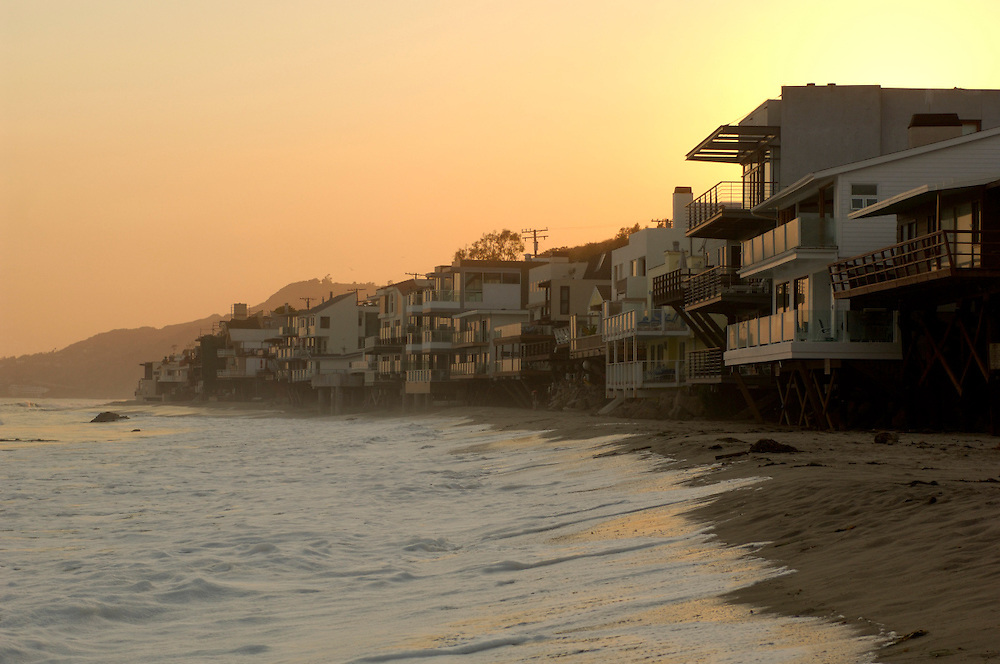 Beach Houses, Malibu, Los Angeles, California, United States of America