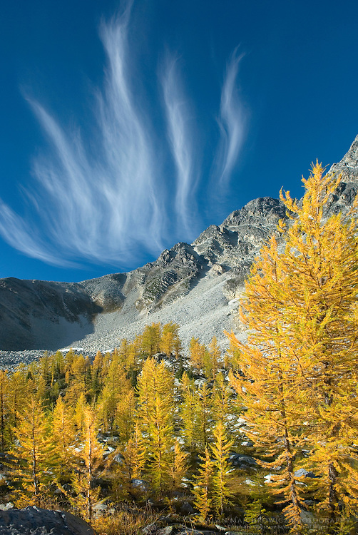 Wispy clouds over Mount Monica, Purcell Mountains British Columbia
