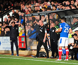 PAUL COOK MANAGER PORTSMOUTH FC, Cambridge United v Portsmouth, Abbey Stadium Sky Bet Football League Two, Saturday 29th October 2016<br /> Score 0-1 (Chaplin)