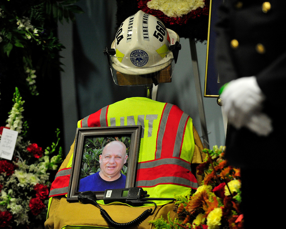 """Funeral services with for Upper Macungie Township Fire Marshal Samir """"Sam"""" Ashmar, 51 were held on November 25th, 2014, in Allentown, Pa. Ashmar died on November 20th in the line of duty following an emergency call. (Chris Post   lehighvalleylive.com)"""